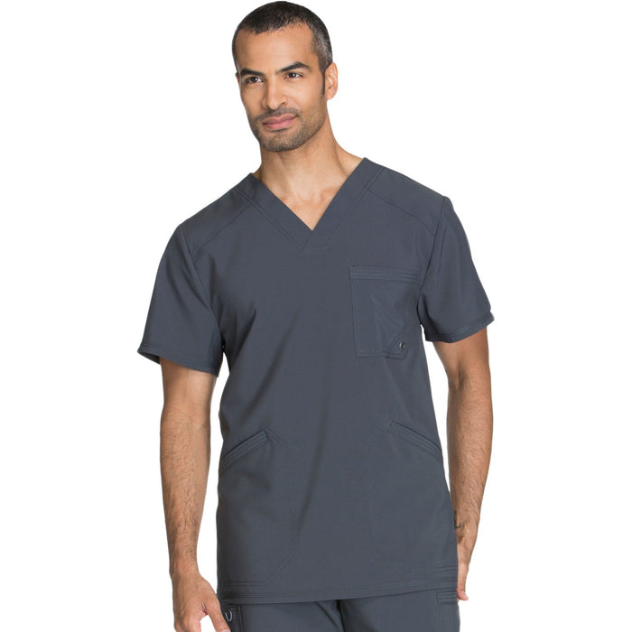 Cherokee Infinity CK900A Scrubs Top Men's V-Neck Pewter