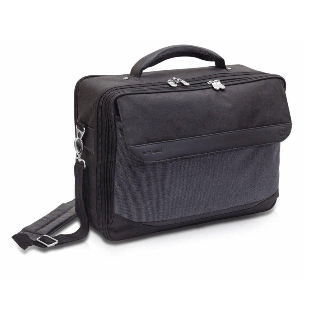 Elite Bags DOCTOR'S Bag in Black Twill Polyamide