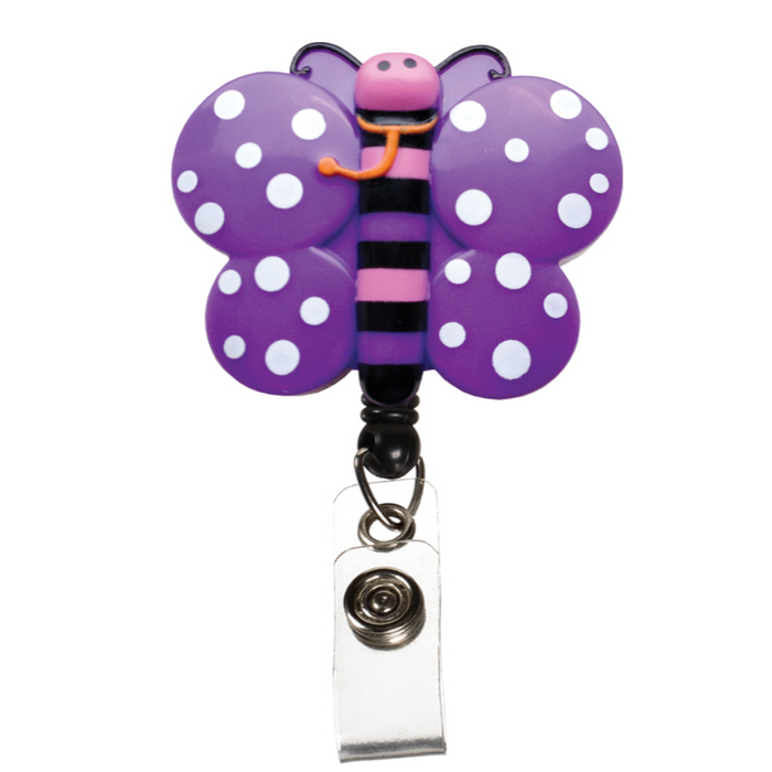 Prestige Deluxe Retracteze ID Holder Butterflies
