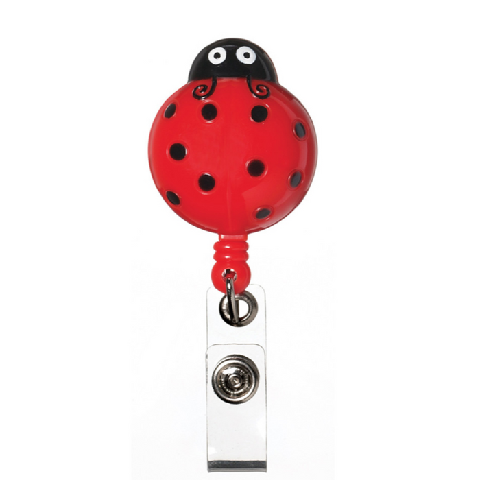 Prestige Deluxe Retracteze ID Holder Lady Bug