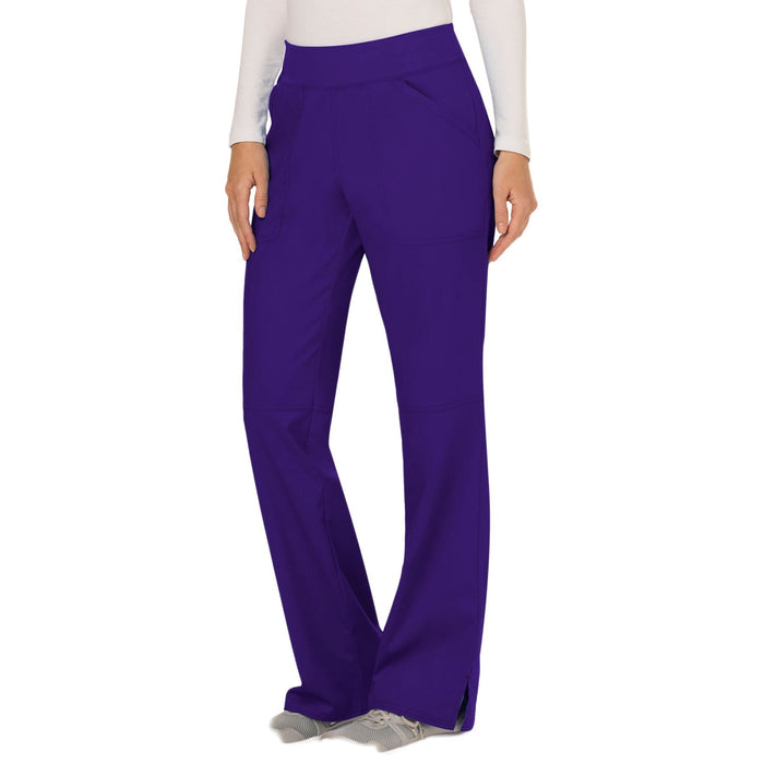 Cherokee Workwear Revolution WW110 Scrubs Pants Women's Mid Rise Straight Leg Pull-on Grape 4XL