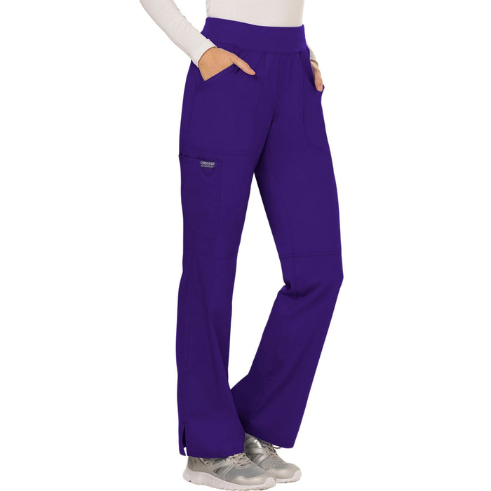 Cherokee Workwear Revolution WW110 Scrubs Pants Women's Mid Rise Straight Leg Pull-on Grape 5XL