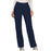 Cherokee Workwear Revolution WW110 Scrubs Pants Women's Mid Rise Straight Leg Pull-on Navy