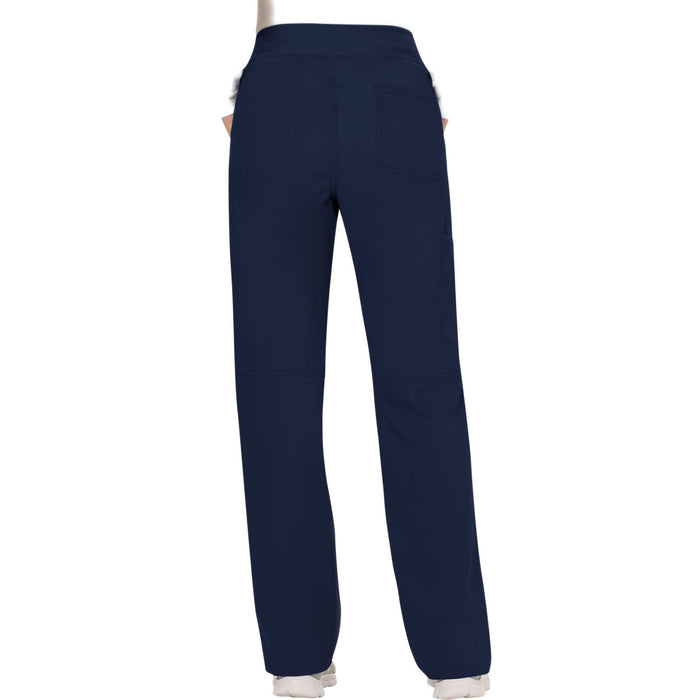 Cherokee Workwear Revolution WW110 Scrubs Pants Women's Mid Rise Straight Leg Pull-on Navy 3XL