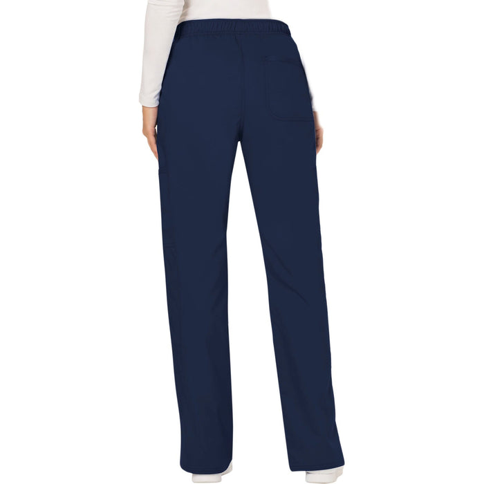 Cherokee Workwear Revolution WW120 Scrubs Pants Women's Mid Rise Moderate Flare Drawstring Navy 3XL
