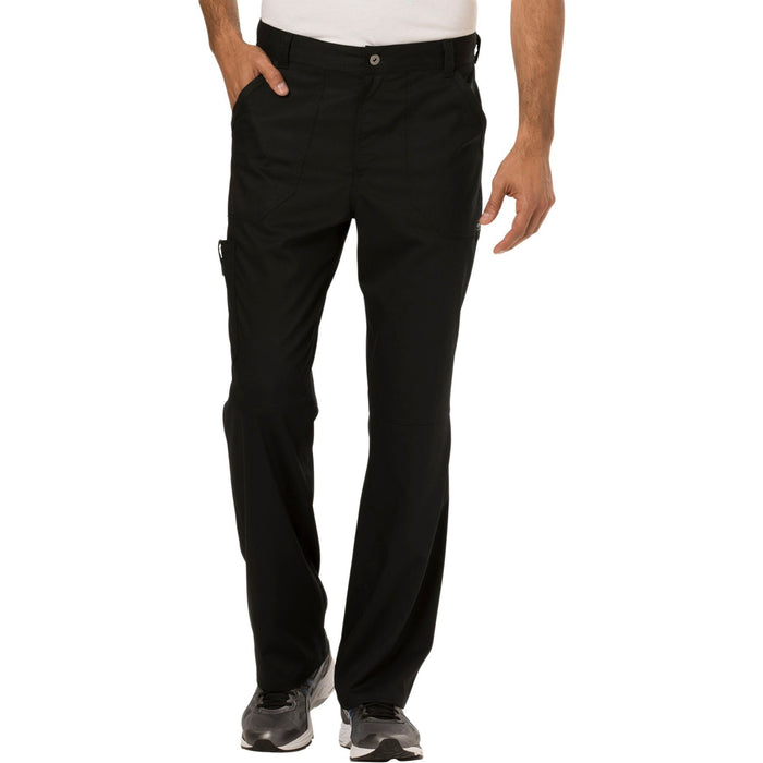 Cherokee Workwear Revolution WW140 Scrubs Pants Men's Fly Front Black