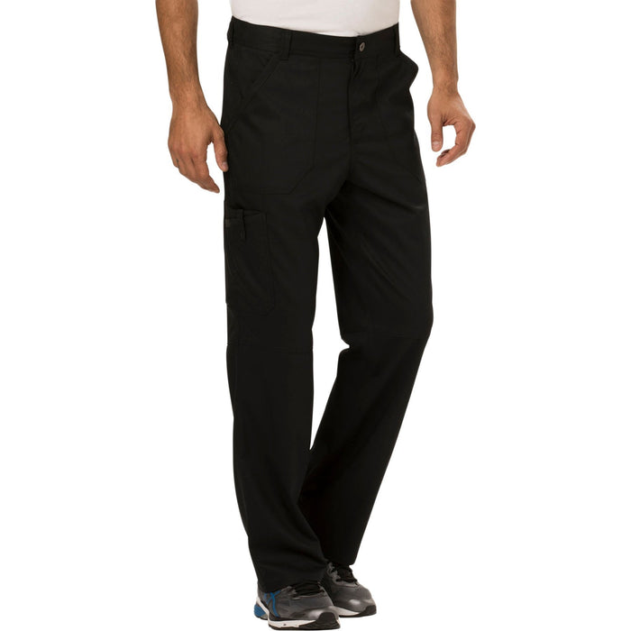 Cherokee Workwear Revolution WW140 Scrubs Pants Men's Fly Front Black 5XL