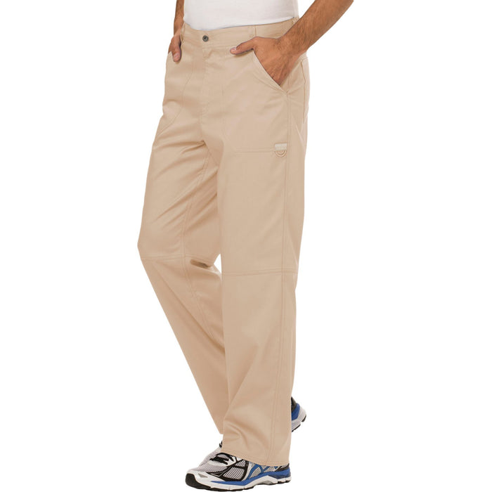 Cherokee Workwear Revolution WW140 Scrubs Pants Men's Fly Front Khaki 4XL