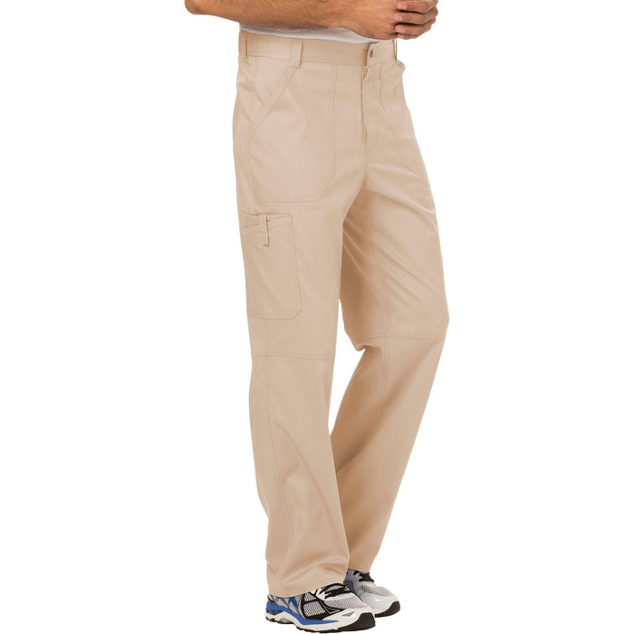 Cherokee Workwear Revolution WW140 Scrubs Pants Men's Fly Front Khaki 5XL