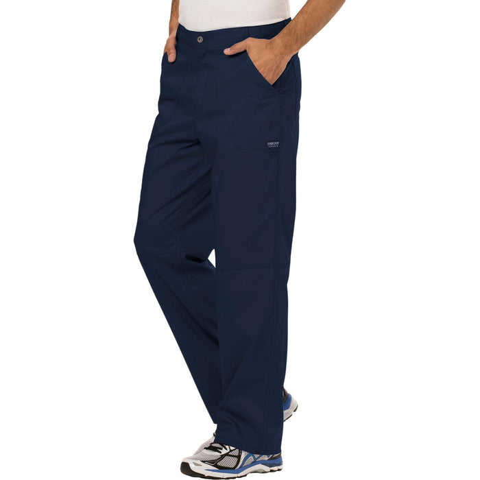 Cherokee Workwear Revolution WW140 Scrubs Pants Men's Fly Front Navy 4XL