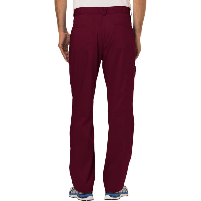 Cherokee Workwear Revolution WW140 Scrubs Pants Men's Fly Front Wine 3XL