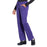 Cherokee Workwear Professionals WW160 Scrubs Pants Women's Mid Rise Straight Leg Drawstring Grape 4XL