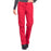 Cherokee Workwear Professionals WW160 Scrubs Pants Women's Mid Rise Straight Leg Drawstring Red