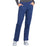 Cherokee Workwear Professionals WW170 Scrubs Pants Women's Mid Rise Straight Leg Pull-on Cargo Navy