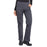 Cherokee Workwear Professionals WW170 Scrubs Pants Women's Mid Rise Straight Leg Pull-on Cargo Pewter