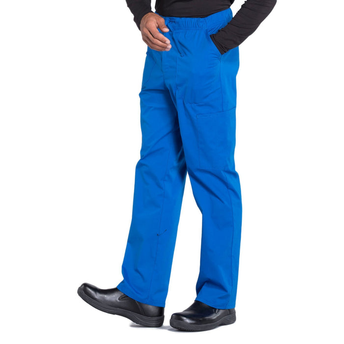 Cherokee Workwear Professionals WW190 Scrubs Pants Men's Tapered Leg Drawstring Cargo Royal 4XL