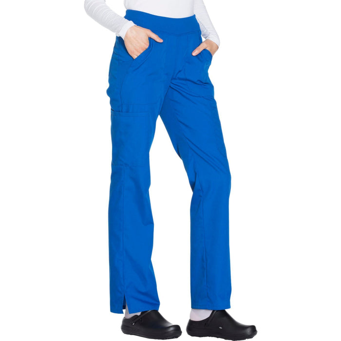 Cherokee Workwear WW210 Scrubs Pants Women's Mid Rise Straight Leg Pull-on Cargo Royal 5XL