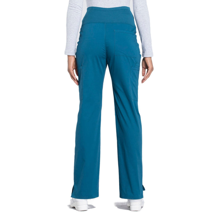 Cherokee Workwear Professionals WW220 Scrubs Pants Maternity Straight Leg Caribbean Blue 3XL