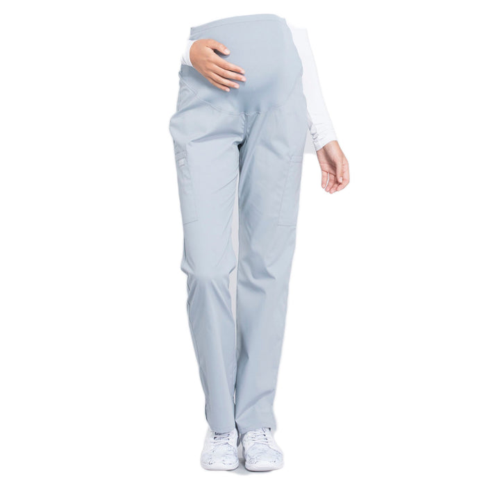 Cherokee Workwear Professionals WW220 Scrubs Pants Maternity Straight Leg Grey
