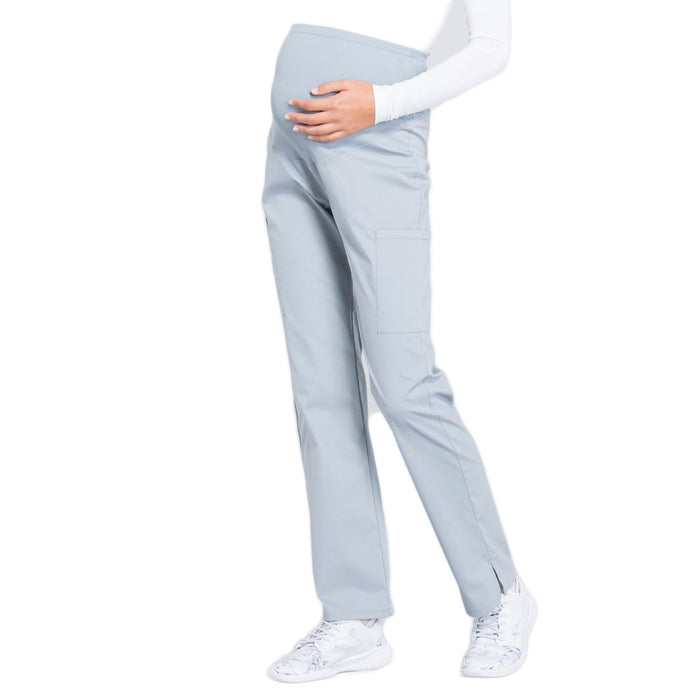 Cherokee Workwear Professionals WW220 Scrubs Pants Maternity Straight Leg Grey L