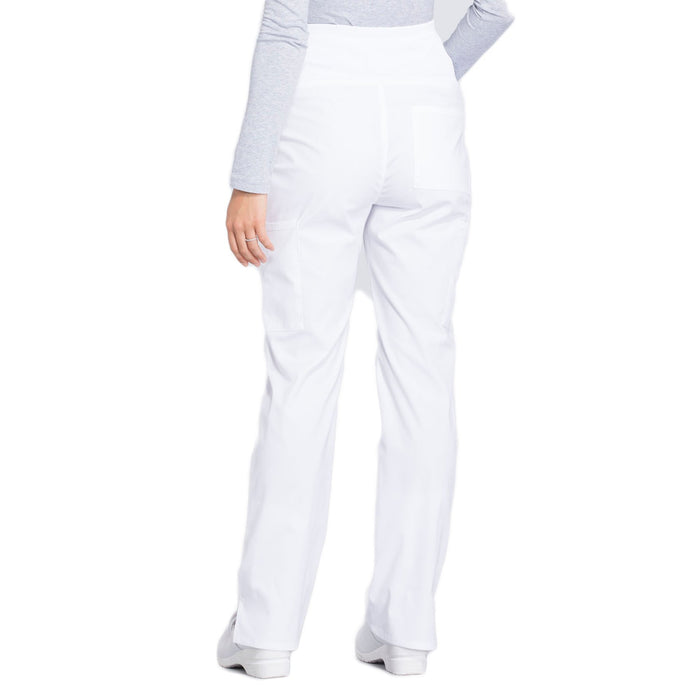 Cherokee Workwear Professionals WW220 Scrubs Pants Maternity Straight Leg White 3XL