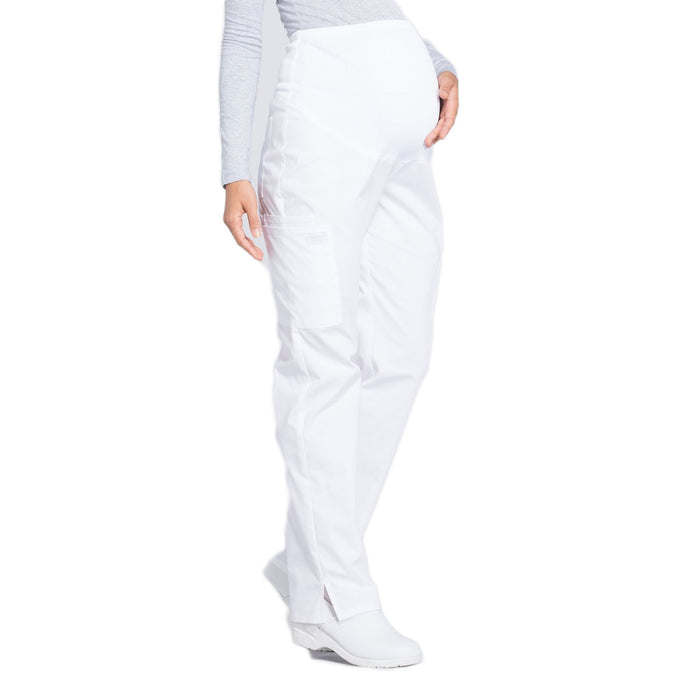 Cherokee Workwear Professionals WW220 Scrubs Pants Maternity Straight Leg White M