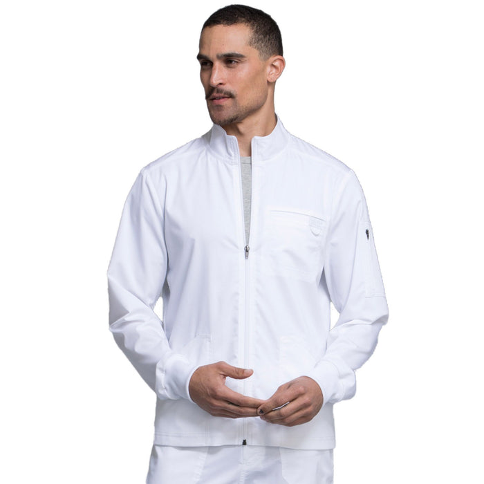 Cherokee Workwear Revolution WW320 Scrubs Jacket Men's Zip Front White 4XL