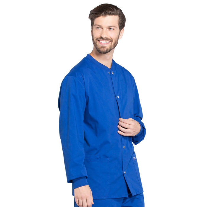 Cherokee Workwear Professionals WW360 Scrubs Jacket Men's Warm-up Galaxy Blue 5XL