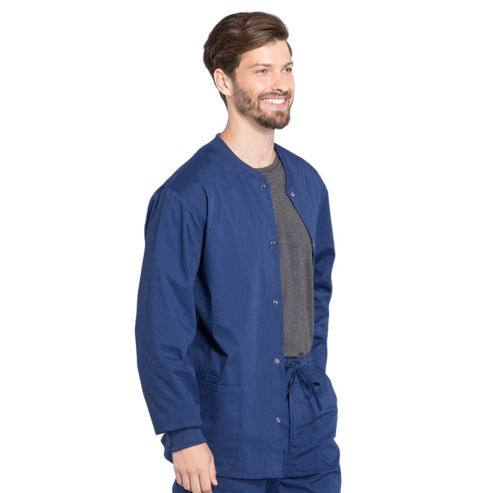 Cherokee Workwear Professionals WW360 Scrubs Jacket Men's Warm-up Navy 5XL