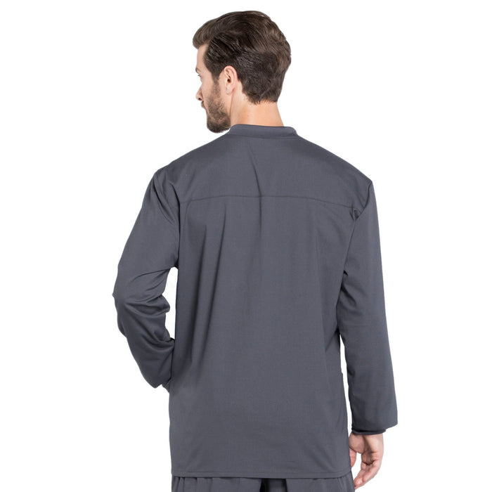 Cherokee Workwear Professionals WW360 Scrubs Jacket Men's Warm-up Pewter 3XL