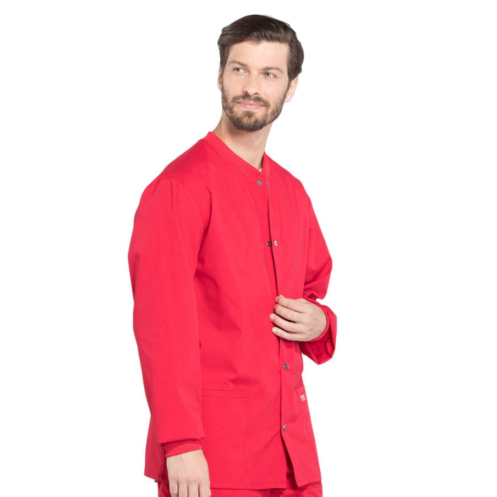 Cherokee Workwear Professionals WW360 Scrubs Jacket Men's Warm-up Red 5XL