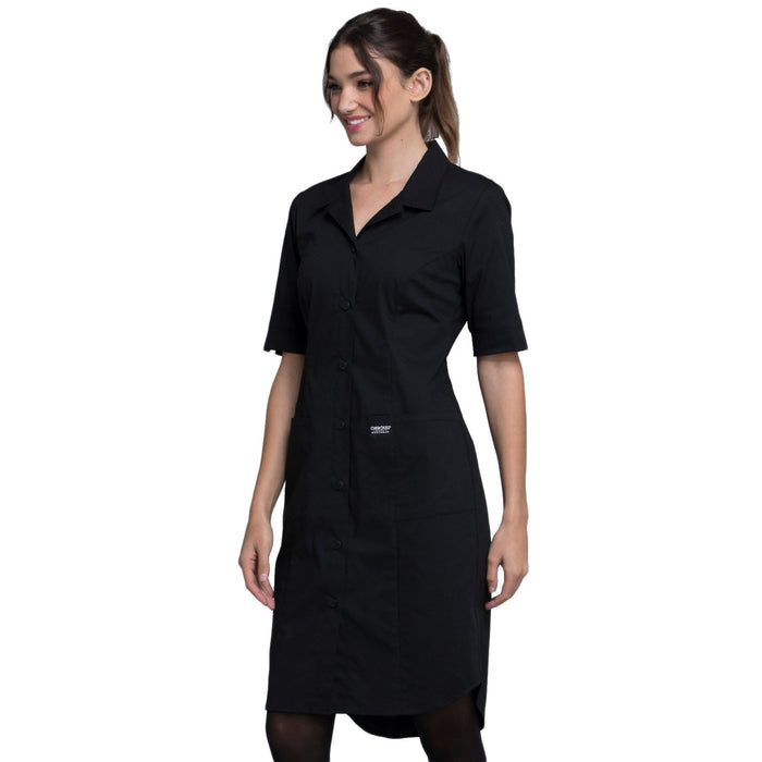 Cherokee Workwear Professionals WW500 Dress Women's Button Front Black 4XL