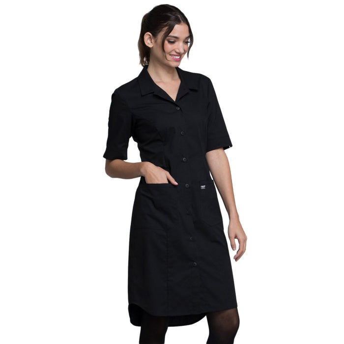 Cherokee Workwear Professionals WW500 Dress Women's Button Front Black 5XL