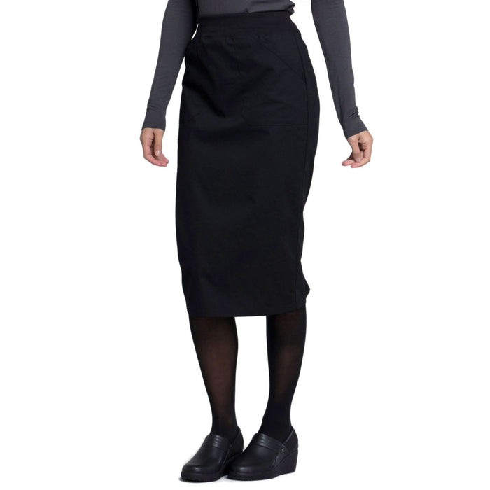 "Cherokee Workwear Professionals WW510 Skirt Women's 30"" Knit Waistband Skirt Black 4XL"