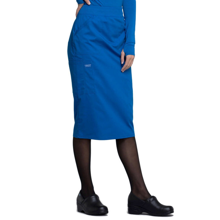 "Cherokee Workwear Professionals WW510 Skirt Women's 30"" Knit Waistband Skirt Royal 5XL"