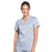 Cherokee Workwear Revolution WW610 Scrubs Top Women's Mock Wrap Grey