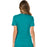 Cherokee Workwear Revolution WW610 Scrubs Top Women's Mock Wrap Teal Blue 3XL