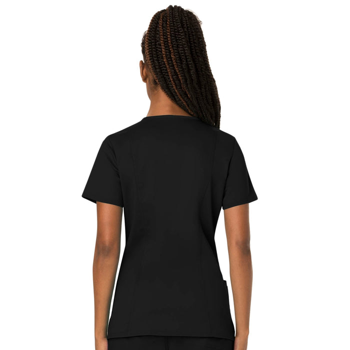 Cherokee Workwear Revolution WW620 Scrubs Top Women's V-Neck Black 3XL