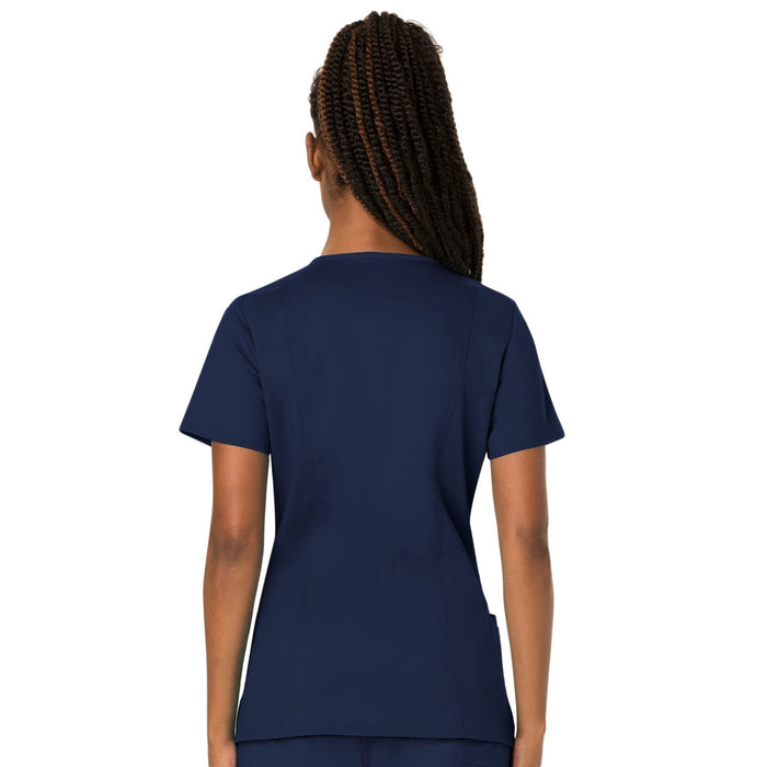 Cherokee Workwear Revolution WW620 Scrubs Top Women's V-Neck Navy 3XL