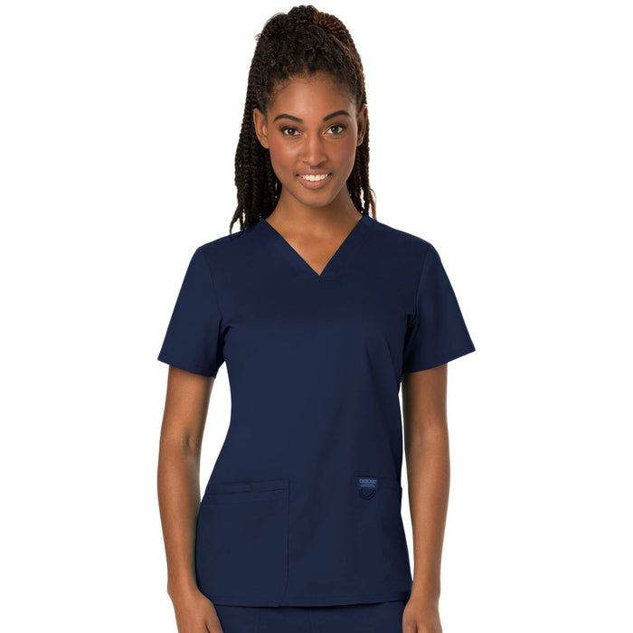 Cherokee Workwear Revolution WW620 Scrubs Top Women's V-Neck Navy