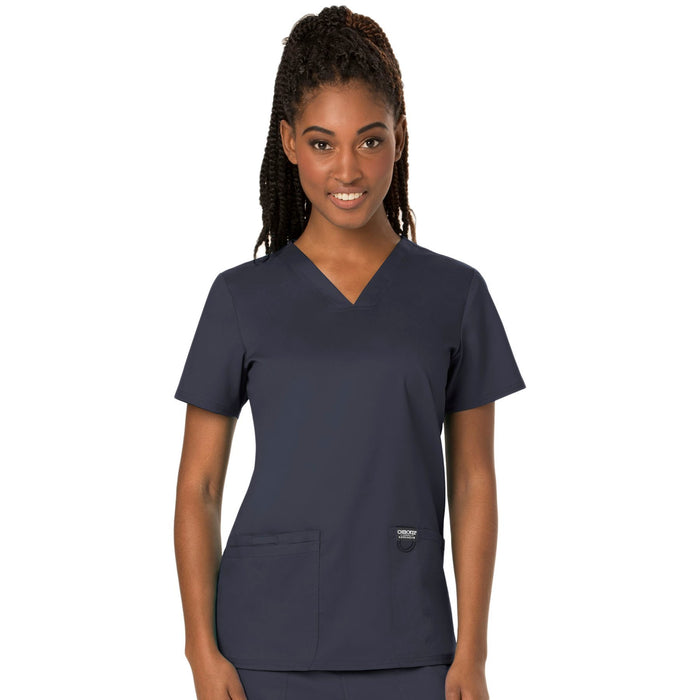 Cherokee Workwear Revolution WW620 Scrubs Top Women's V-Neck Pewter