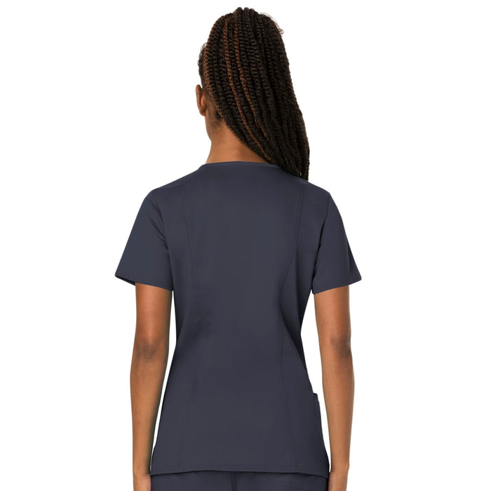 Cherokee Workwear Revolution WW620 Scrubs Top Women's V-Neck Pewter 3XL