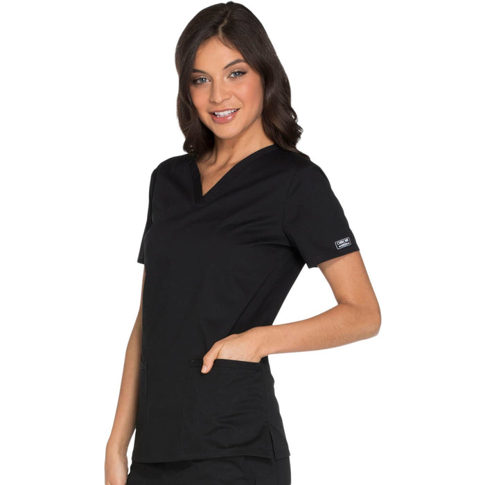 Cherokee Core Stretch WW630 Scrubs Top Women's V-Neck Black 4XL