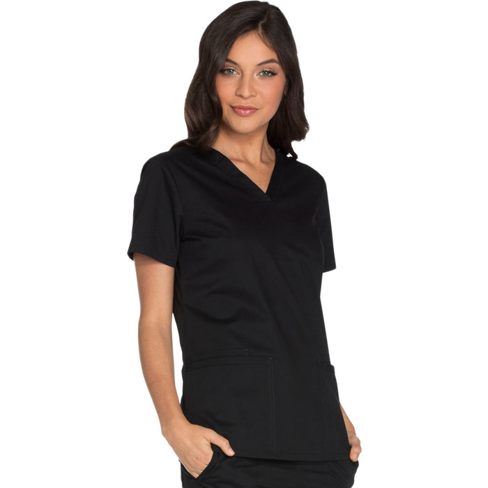 Cherokee Core Stretch WW630 Scrubs Top Women's V-Neck Black 5XL