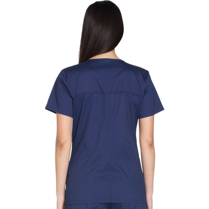 Cherokee Core Stretch WW630 Scrubs Top Women's V-Neck Navy 3XL
