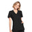 Cherokee Workwear WW650 Scrubs Top Women's Mock Wrap Black