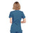 Cherokee Workwear WW650 Scrubs Top Women's Mock Wrap Caribbean Blue 3XL