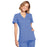 Cherokee Workwear WW650 Scrubs Top Women's Mock Wrap Ciel Blue