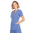Cherokee Workwear WW650 Scrubs Top Women's Mock Wrap Ciel Blue 4XL