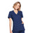 Cherokee Workwear WW650 Scrubs Top Women's Mock Wrap Navy